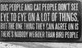 Tips about dog people and cat people