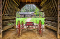 TiptonPlace, cantilever barn, Cades Cove Royalty Free Stock Photo