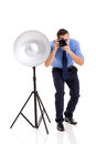 Tir de photographe dans le studio Photographie stock