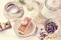 Tiramisu cake on beautifully deocorated table Stock Images