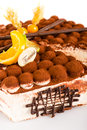 Tiramisu cake delicious dessert mascarpone Royalty Free Stock Photos