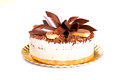Tiramisu cake on a golden platter Stock Photo