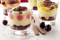 Tiramisu with cherry Stock Photography
