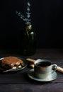 Tiramisu and coffee Royalty Free Stock Photo