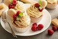 Tiramisu cupcakes with mascarpone cream