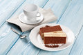 Tiramisu dessert and coffee cup Royalty Free Stock Photo