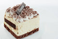 Tiramisu dessert tasty gentle on the plate Royalty Free Stock Photos