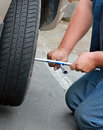 Tire change Royalty Free Stock Photography