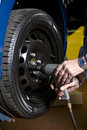 Tire change Royalty Free Stock Photo