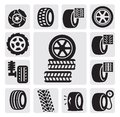 Tire icons Royalty Free Stock Images