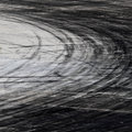 Tire marks on road track background with Royalty Free Stock Photography