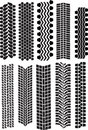 Tire prints vector Stock Photo