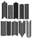 Tire prints vector Royalty Free Stock Image