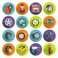 Tire service icon set