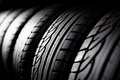 Tire stack background Royalty Free Stock Photo