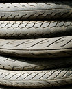 Tire stack background and texture close up of old cars Stock Photo