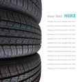 Tire stack isolated on white background Royalty Free Stock Photo