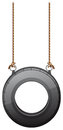 A tire swing illustration of on white background Stock Photos