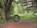 Tire Swing Nostalgia Royalty Free Stock Photos