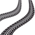 tire tracks isolated icon Royalty Free Stock Photo