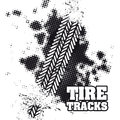 Tire tracks over white background vector illustration Royalty Free Stock Image