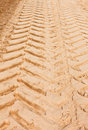 Tire Tracks in the Sand Stock Image