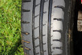Tire or tyre tread the pattern on a car Royalty Free Stock Photography