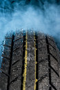 Tire with water drop Royalty Free Stock Photo