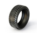 Tire winter isolated on a white background Royalty Free Stock Images