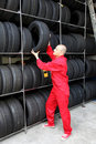 Tire workshop Royalty Free Stock Photography