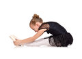 Tired ballet dancer Royalty Free Stock Photo