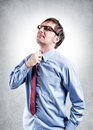 Tired businessman tie choke Stock Photos