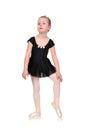 Tired little ballerina Royalty Free Stock Photo