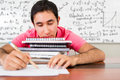 Tired male student Stock Image