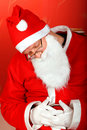 Tired santa claus Royalty Free Stock Images
