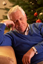 Tired Senior Man Relaxing Royalty Free Stock Photography