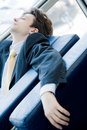 Tired young businessman Royalty Free Stock Photos
