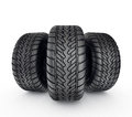 Tires black tyres isolated on a white background Stock Photo