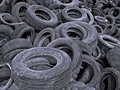 Tires Cemetery Royalty Free Stock Photos