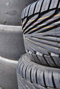 Tires stacked Royalty Free Stock Image
