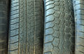 Tires stacked to each other for your design Royalty Free Stock Photos