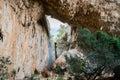 Tiscali archeological site of nuragic village in lanaitto valley dorgali sardinia italy Stock Photos