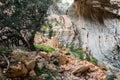 Tiscali archeological site of nuragic village in lanaitto valley dorgali sardinia italy Royalty Free Stock Photo