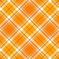 Tissu orange de plaid de Tartan Photographie stock libre de droits