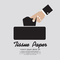 Tissue paper hand holding vector illustration Royalty Free Stock Image