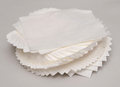 Tissue paper on white background Royalty Free Stock Images