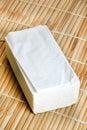Tissue papers beautiful shot of on wooden matt Stock Photo