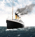 Titanic Leaving Ireland Royalty Free Stock Photo