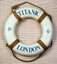 Titanic Lifesaver Royalty Free Stock Photo