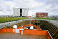 Titanic museum palace vieved from nomadic deck belfast united kindom febrary Stock Photos